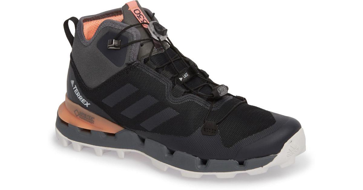 e1e34a6a Lyst - adidas Terrex Fast Mid Gore-tex Hiking Boot in Black