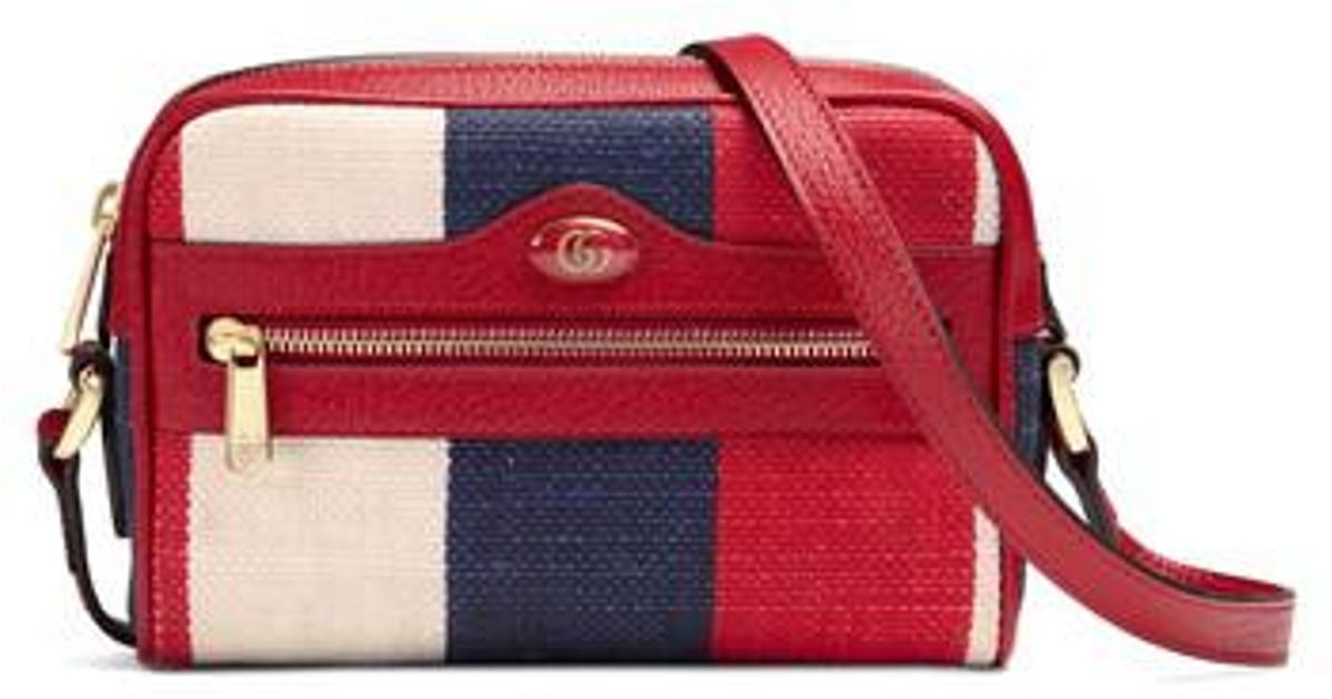 0678616396d Lyst - Gucci Ophidia Mini Bag in Red