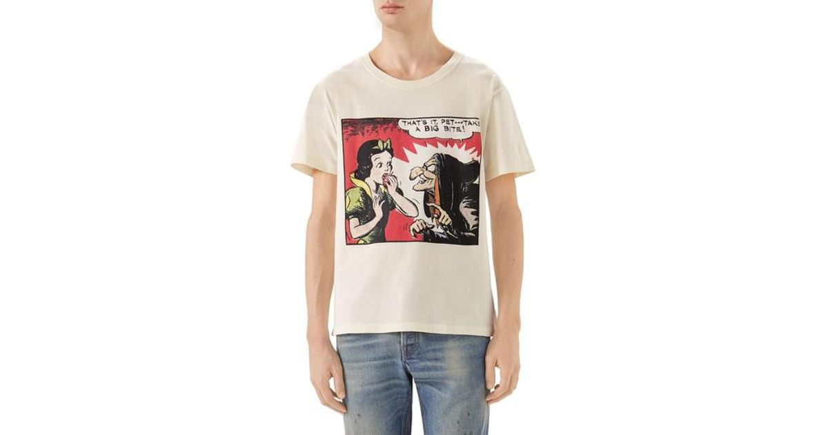 942d1d960 Gucci Snow White Graphic T-shirt in White for Men - Lyst