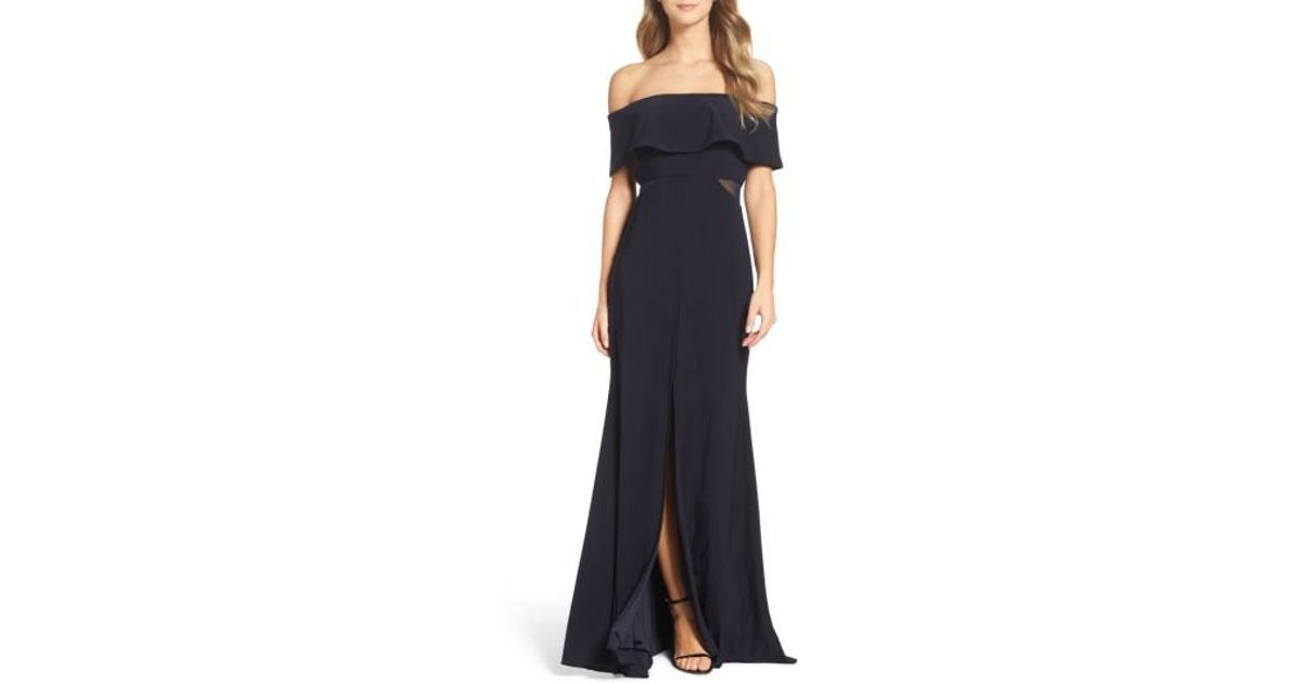 ed2883903bd Xscape Jersey Popover Gown in Blue - Lyst