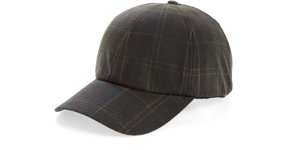 Lyst - Barbour Tartan Baseball Cap in Black for Men 5652a08e0372