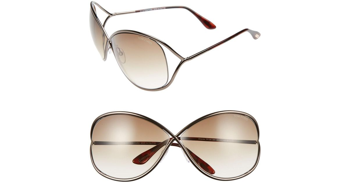 6360ea9303a Lyst - Tom Ford Miranda 68mm Open Temple OverBronze