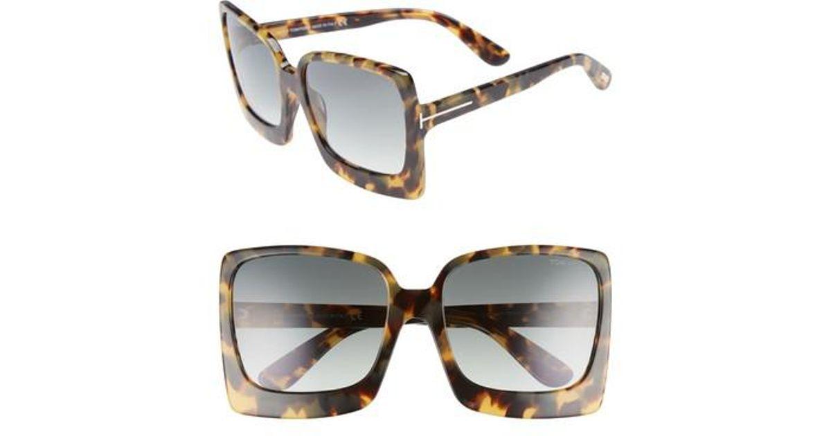 7e4d45340 Tom Ford Katrine 60mm Sunglasses - Havana/ Gradient Green in Green - Lyst