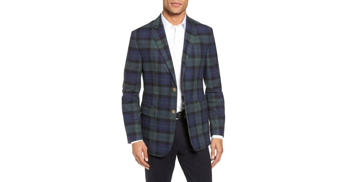 03a0698f1d6ae Lyst - Vineyard Vines Classic Fit Blackwatch Plaid Sport Coat in Blue for  Men