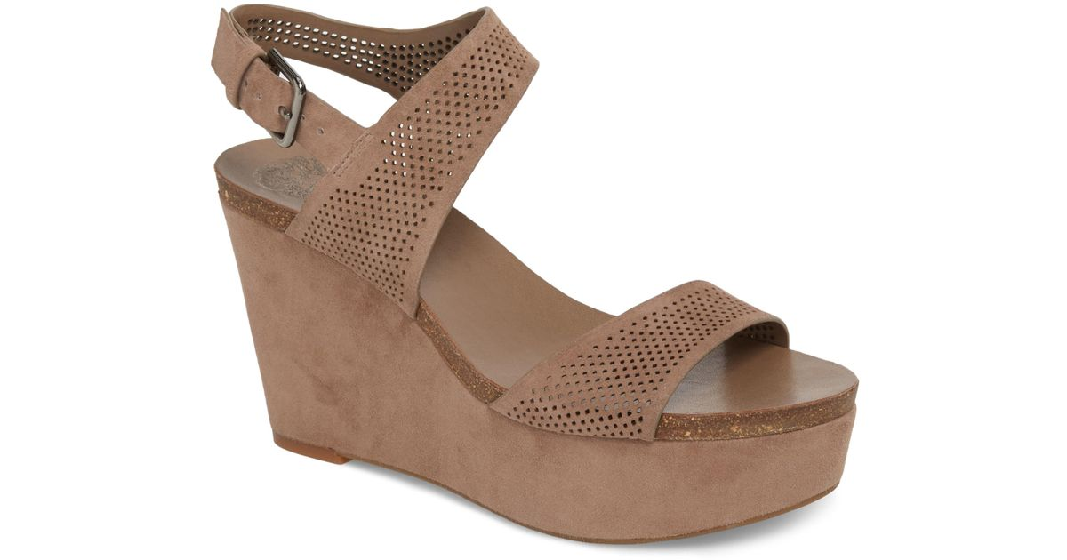 27edcbe1723 Lyst - Vince Camuto Vessinta Platform Wedge (women) in Brown