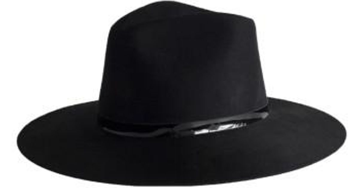 09aa98c640507 Lyst - Janessa Leone Peyton Wool Fedora - in Black