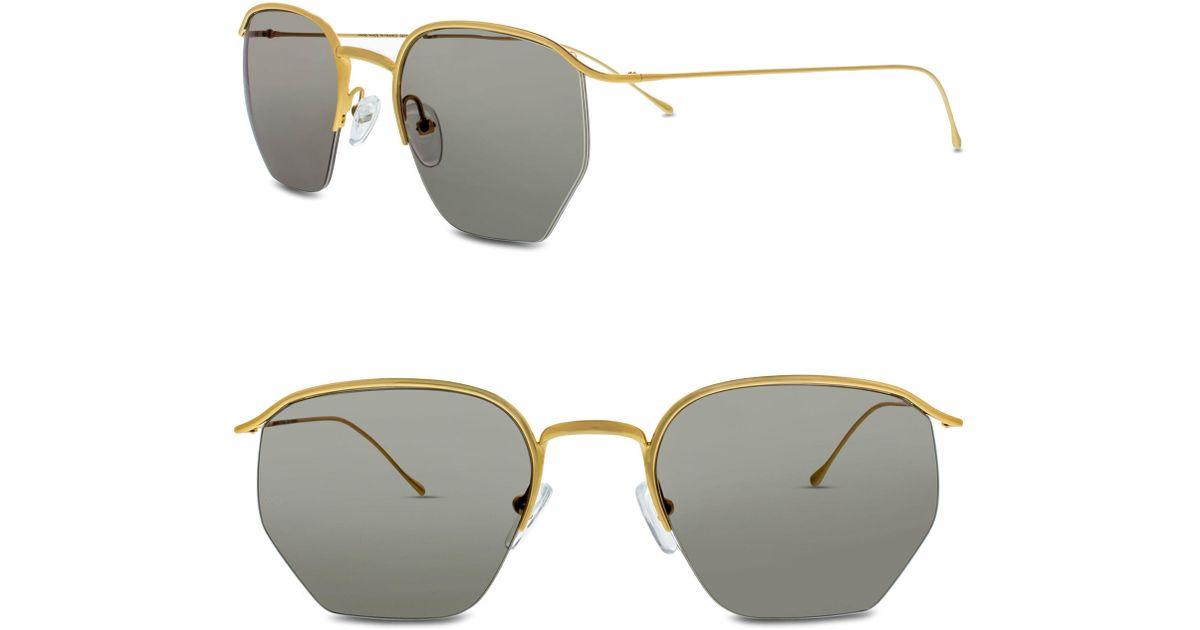 3b17e23b8fb Lyst - Smoke X Mirrors Geo I 51mm Semi Rimless Sunglasses in Metallic