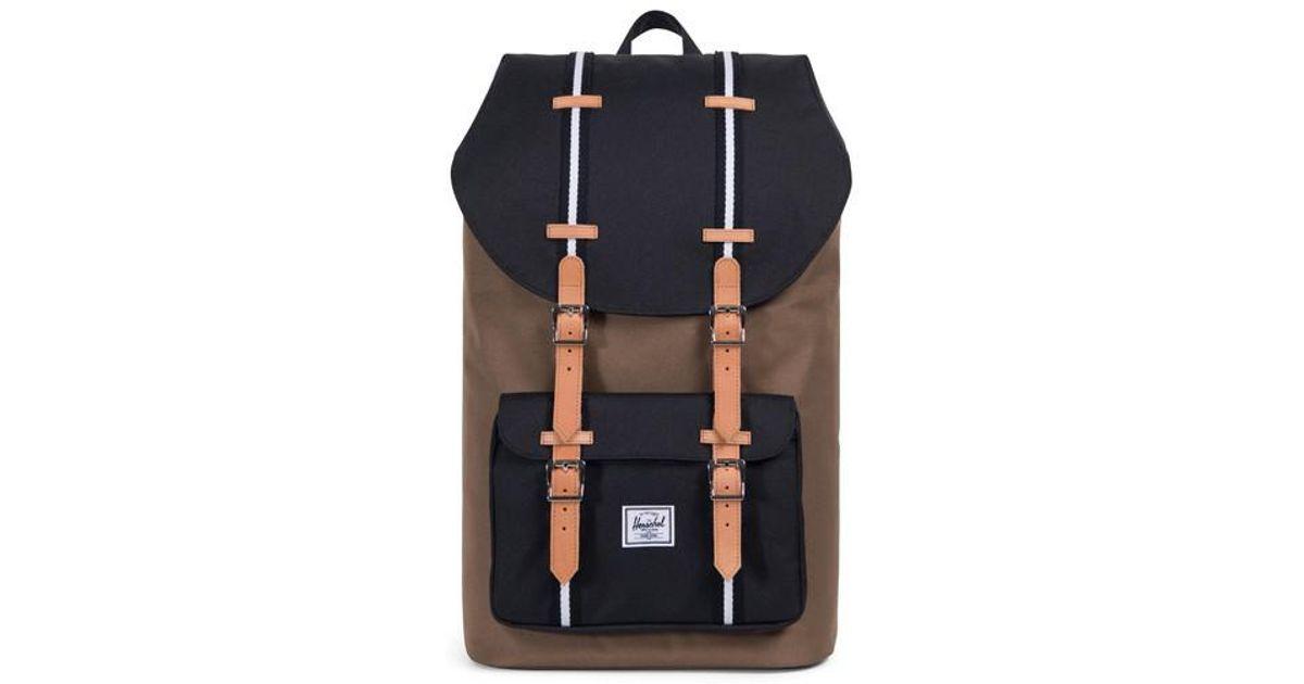 9c3a863fb2a Lyst - Herschel Supply Co. Little America Offset Stripe Backpack in ...