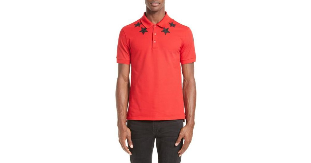 9d460fb4 Lyst - Givenchy Star 74 Cuban Fit Polo in Red for Men