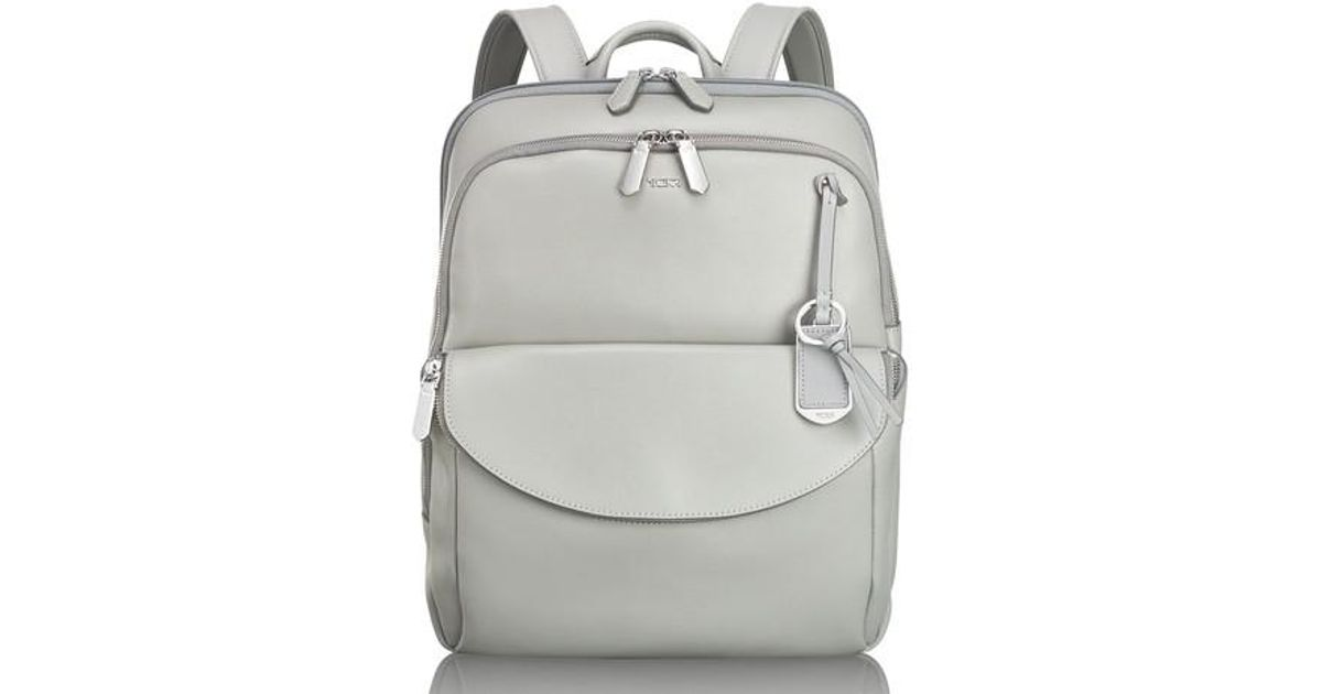a4e155092 Lyst - Tumi Stanton Hettie Leather Backpack - in Metallic