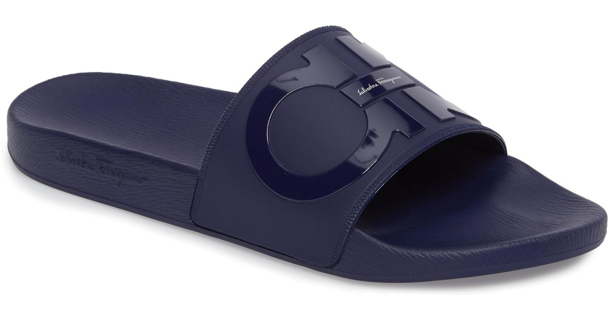 f64a7016271 Lyst - Ferragamo Groove Slide Sandal in Blue for Men