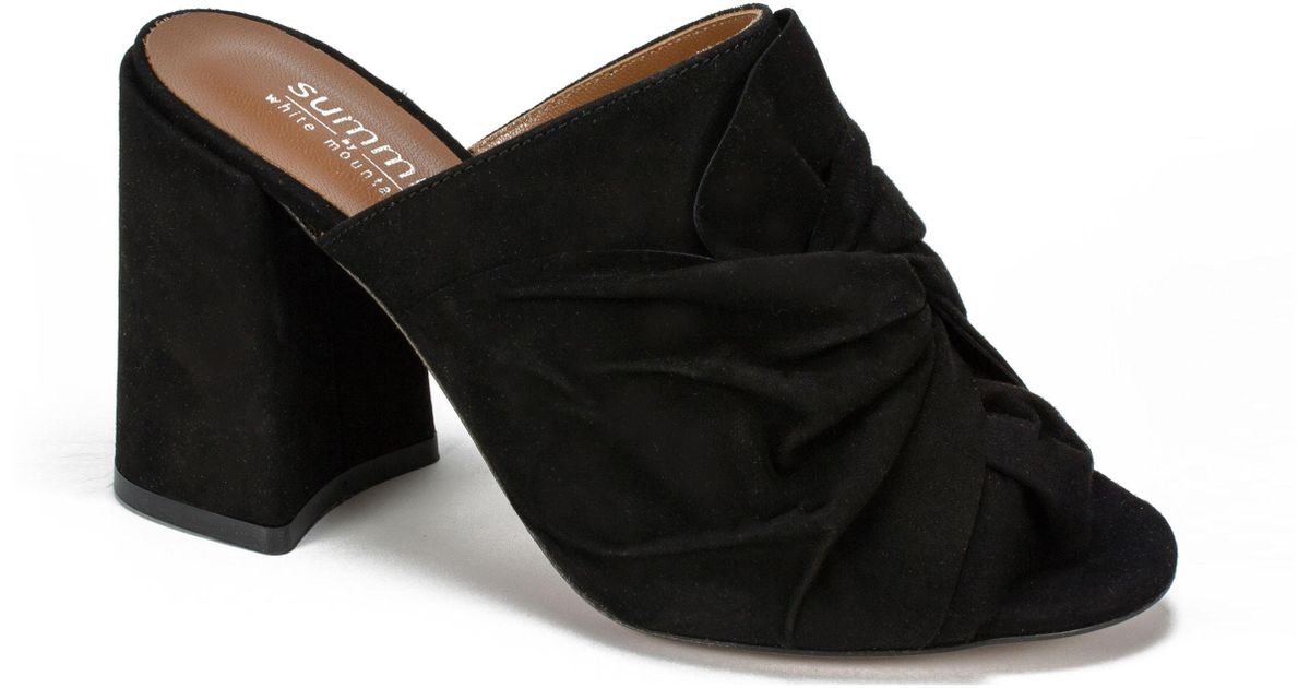 c0a518fbeb0d Lyst - Summit By White Mountain Anya Block Heel Mule in Black