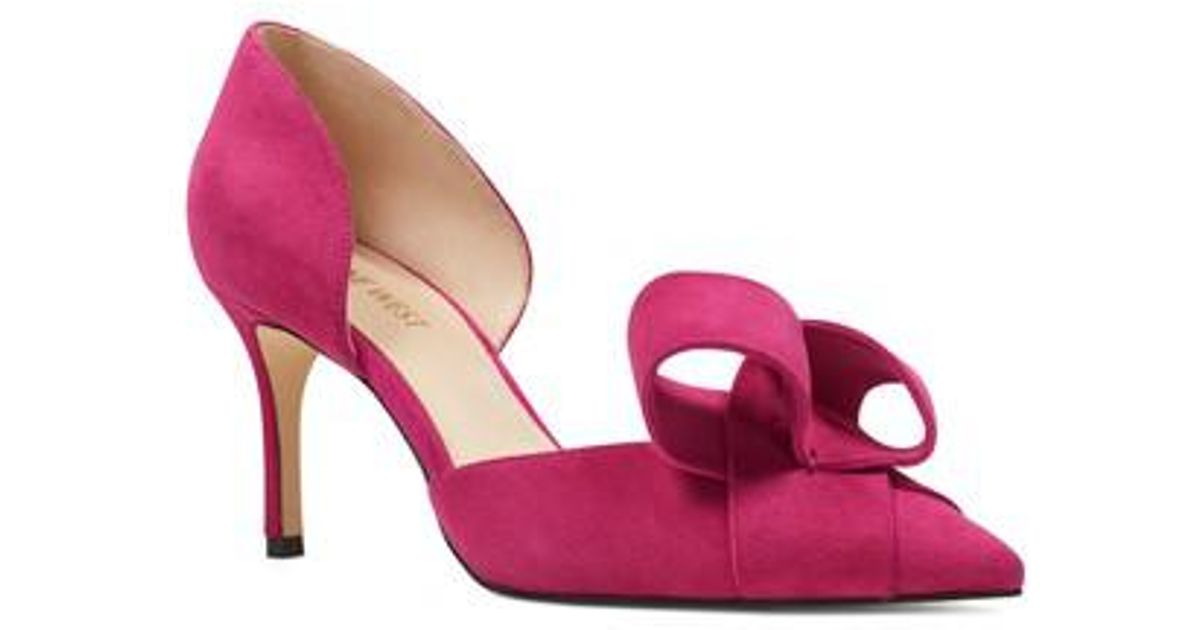3287e7a5309 Nine West Mcfally D orsay Pump in Pink - Lyst