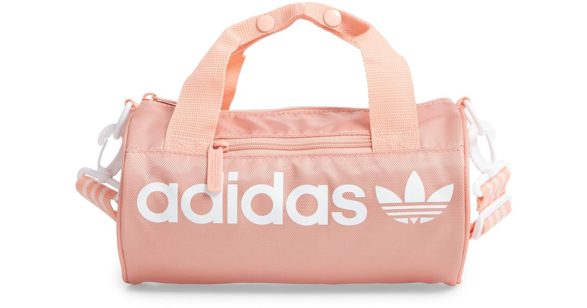 6433321ca adidas Originals Santiago Mini Duffle Bag - in Pink - Lyst