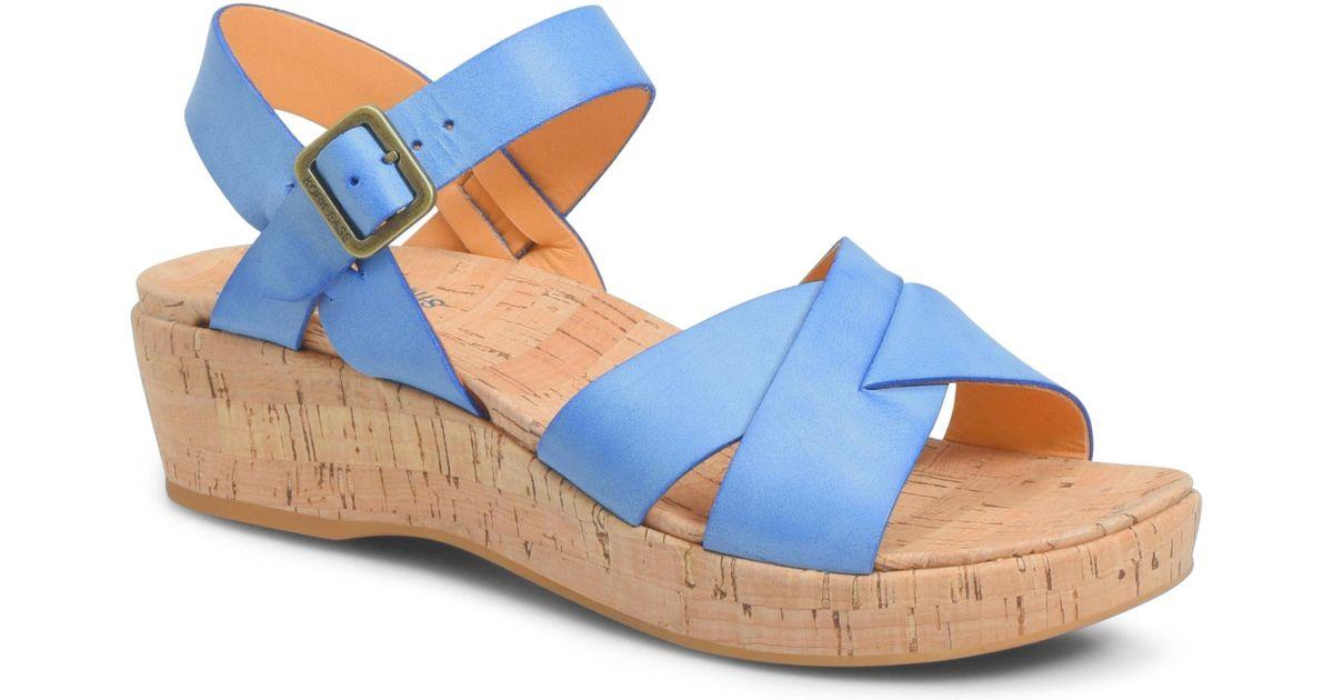 03815b24b440 Lyst - Kork-Ease Kork-ease  myrna 2.0  Cork Wedge Sandal in Blue