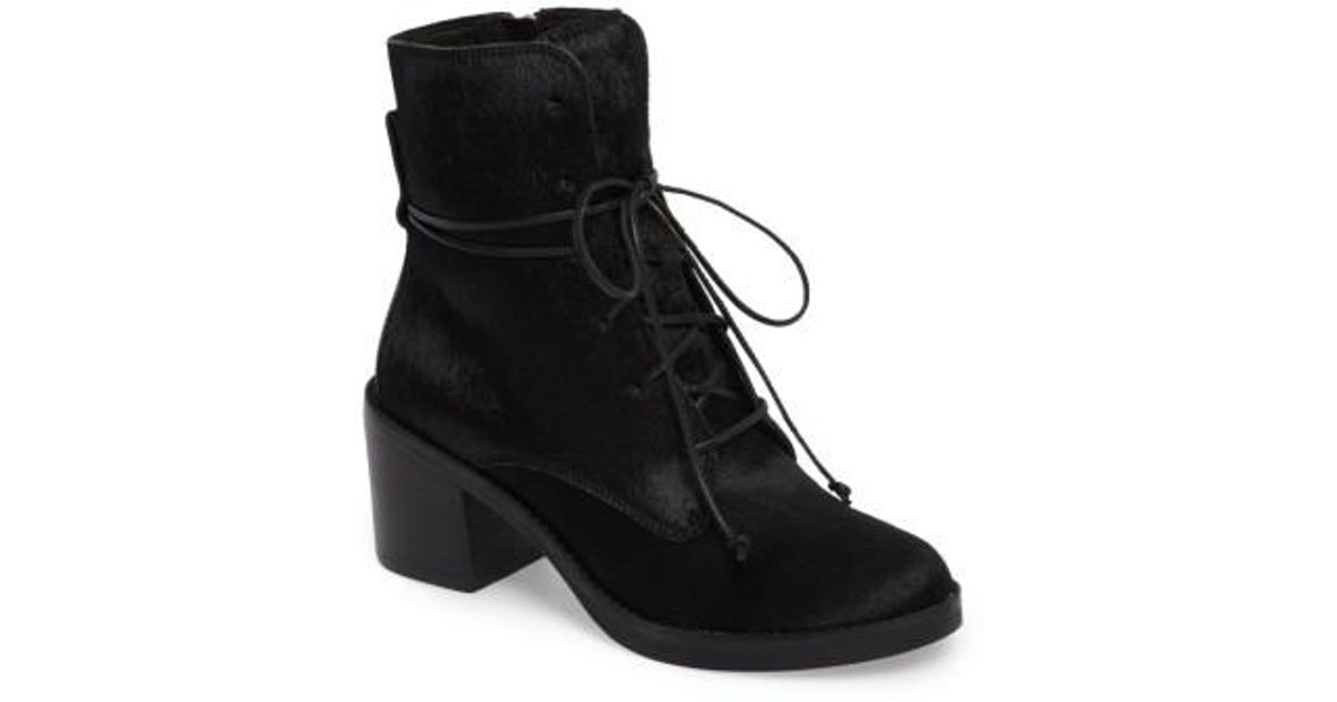 bdcf91722b4 Ugg - Black Ugg Oriana Genuine Calf Hair Lace-up Boot - Lyst