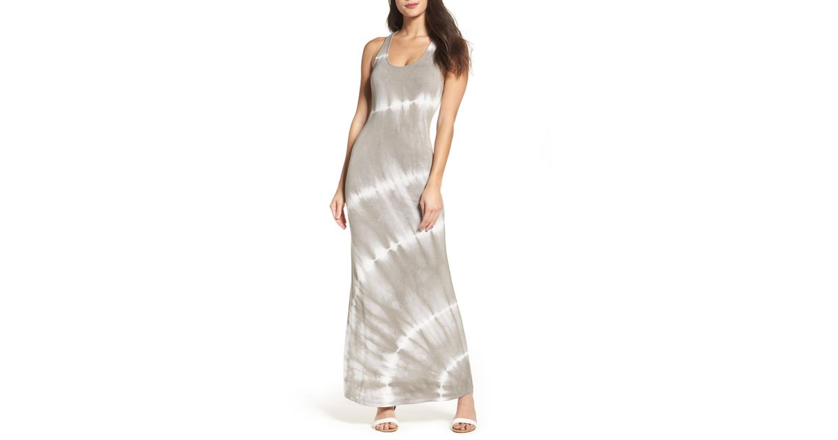 04d6f58747 Lyst - Fraiche By J Tie Dye Racerback Maxi Dress in Natural