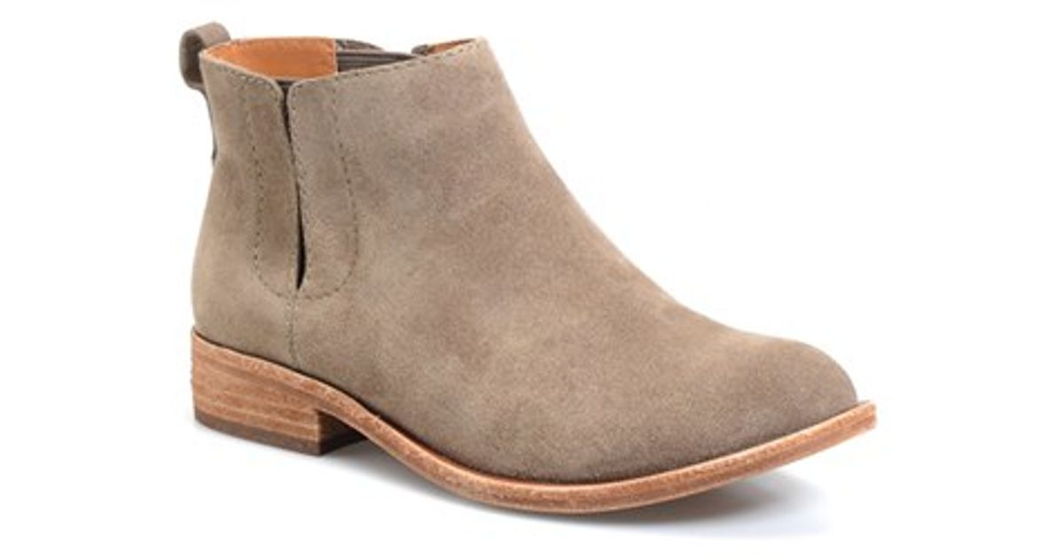 kork ease velma suede ankle boots in brown lyst