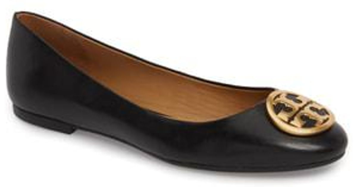 4dec193f1cc Lyst - Tory Burch Benton Ballet Flat (women) in Black