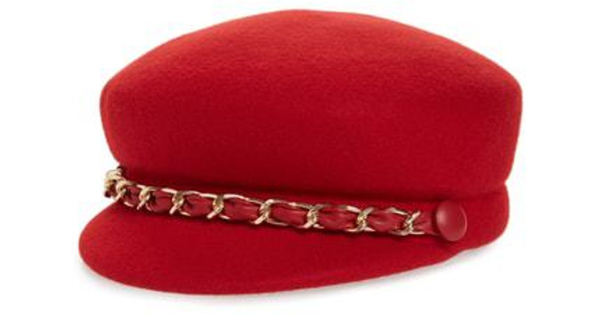 e06a297e6b5 Lyst - Eugenia Kim Sabrina Wool Baker Boy Cap - in Red