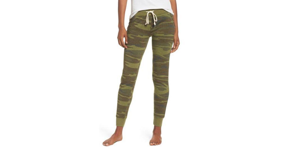 a71ad6450309f Lyst - Alternative Apparel Camo Print Fleece Jogger Pants in Green
