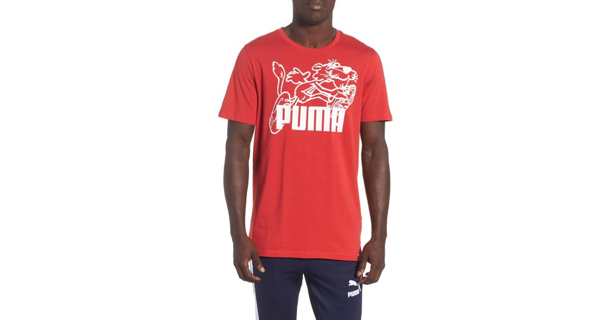 947e677fe07 Lyst - PUMA Retro Sports T-shirt in Red for Men