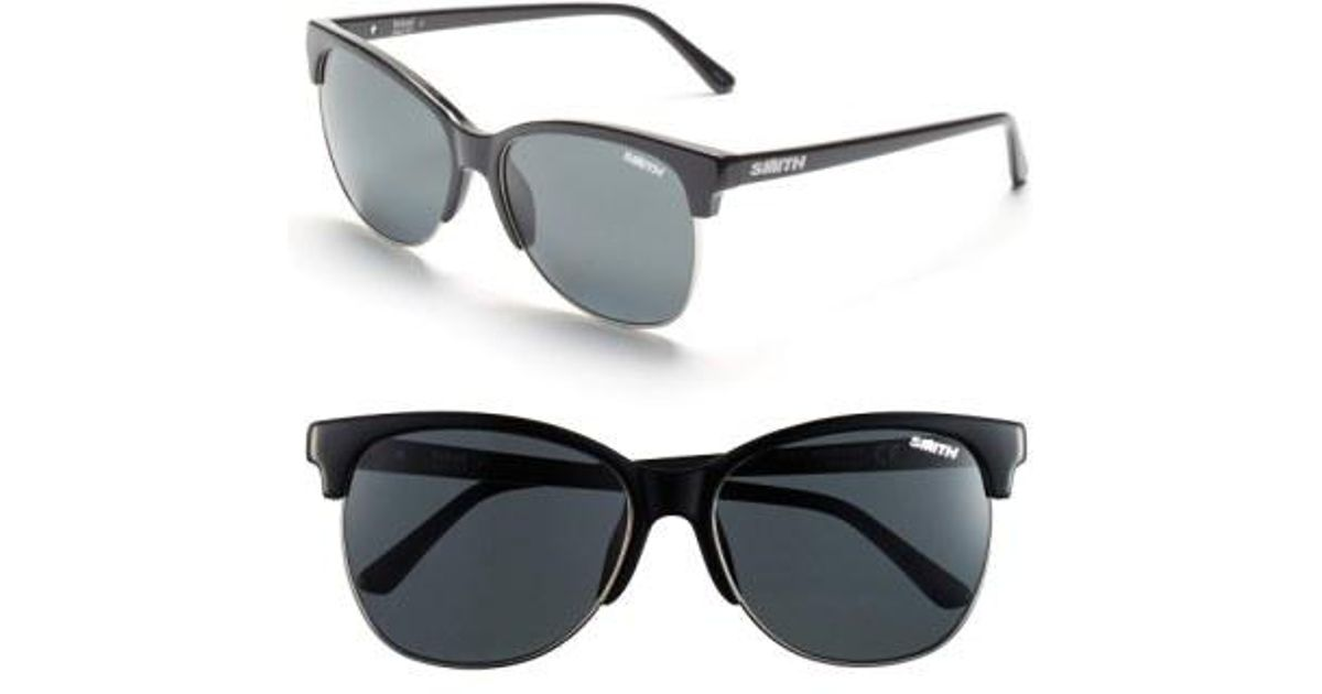 9e6009cc1e Lyst - Smith  rebel  57mm Cat Eye Sunglasses in Black