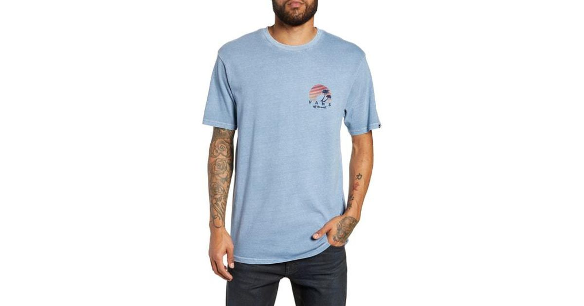 bab72133afba8f Lyst - Vans Vintage Off The Wall Sunset Graphic T-shirt in Blue for Men