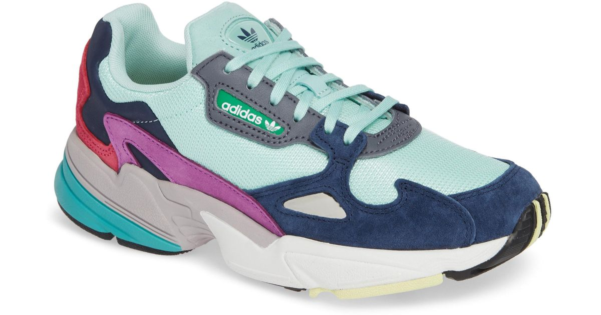 size 40 94fd9 34bc3 Lyst - adidas Falcon Sneaker in Blue