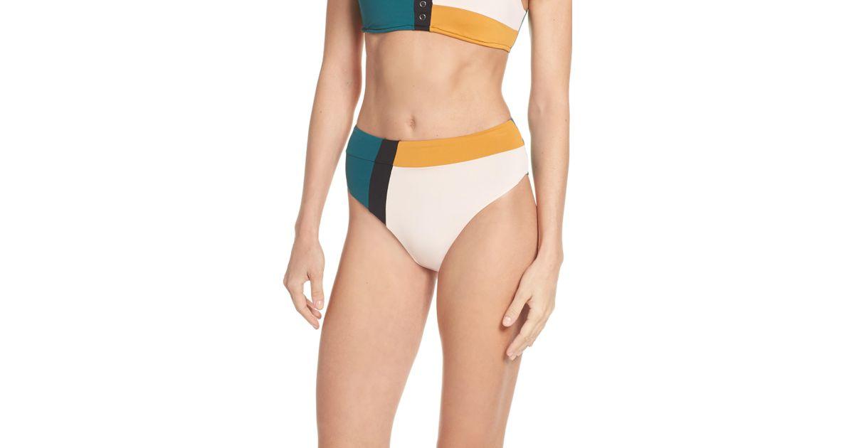 08ab54d758fa7 Seafolly Aralia High Waist Bikini Bottoms in Green - Save 49% - Lyst