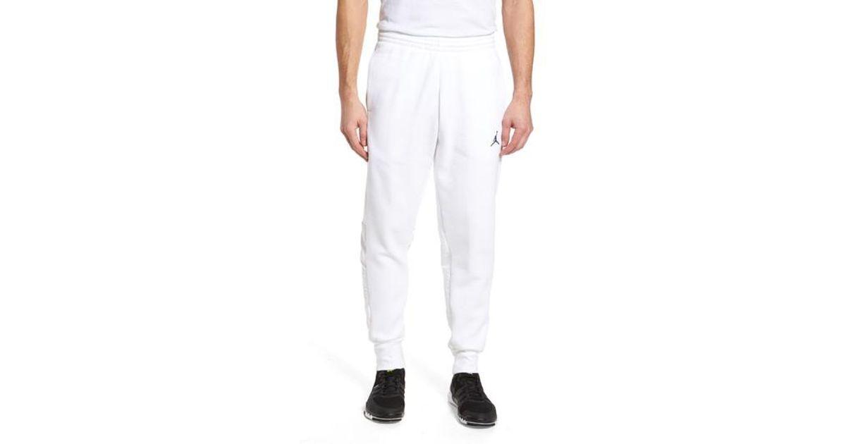 6e45257c03ef72 Lyst - Nike Jordan Aj11 Hybrid Pants in White for Men