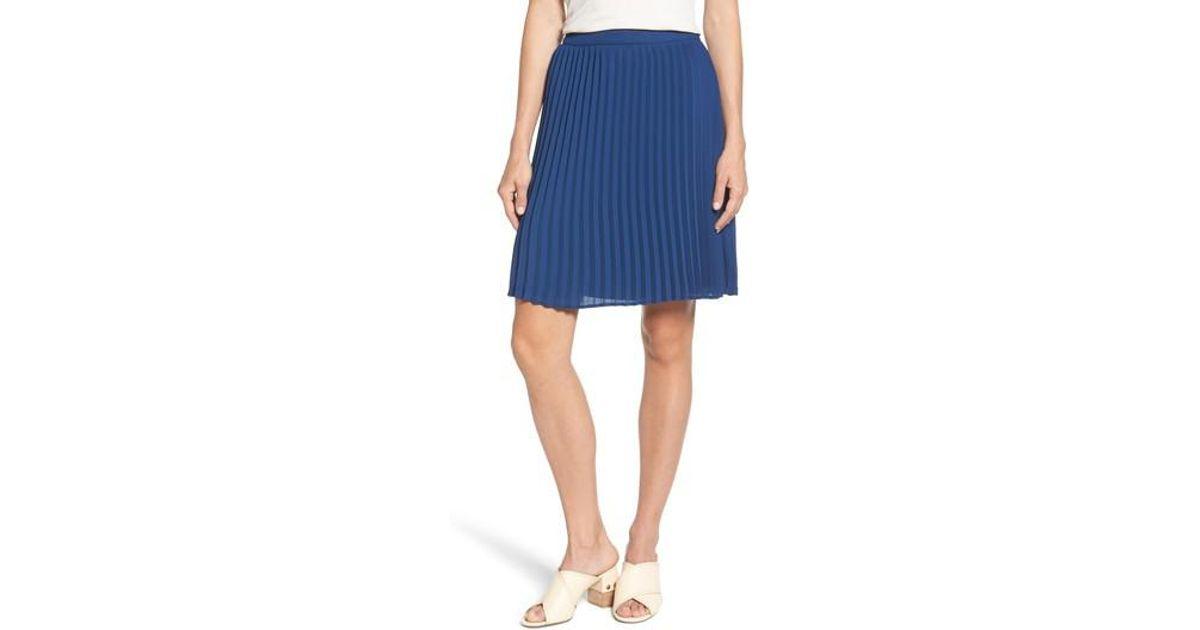 dc0242c2872 Lyst - Gibson X International Women s Day Thamarr Pleated Skirt (regular    Petite) in Blue
