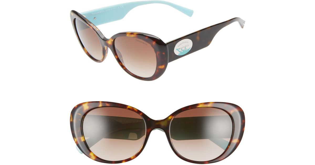 cefbf3e93dfa Lyst - Tiffany   Co Return To Tiffany 54mm Oval Sunglasses - in Brown