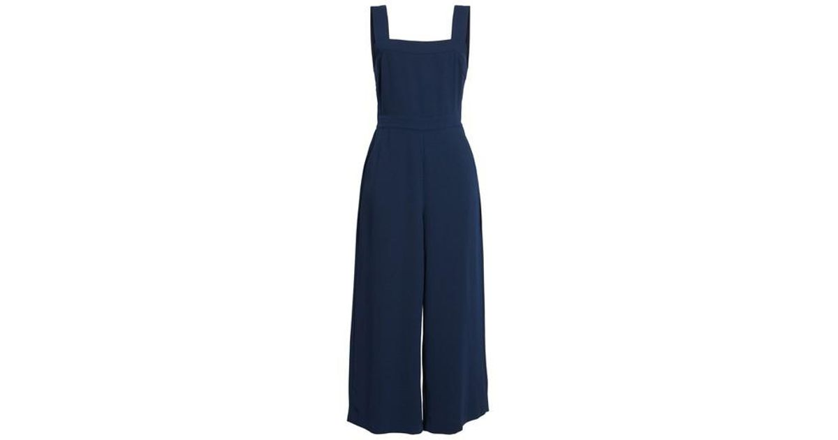 Lyst Madewell Apron Bow Back Jumpsuit In Blue