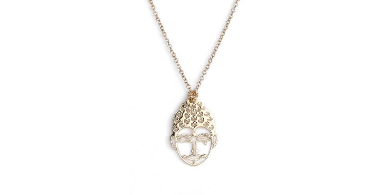 Mini Buddha 18-karat rose gold necklace Ginette NY Na2nsAUM