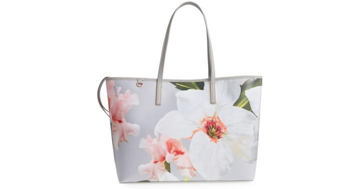 ff041cd94c7f Lyst - Ted Baker Cecie Chatsworth Bloom Canvas Tote -
