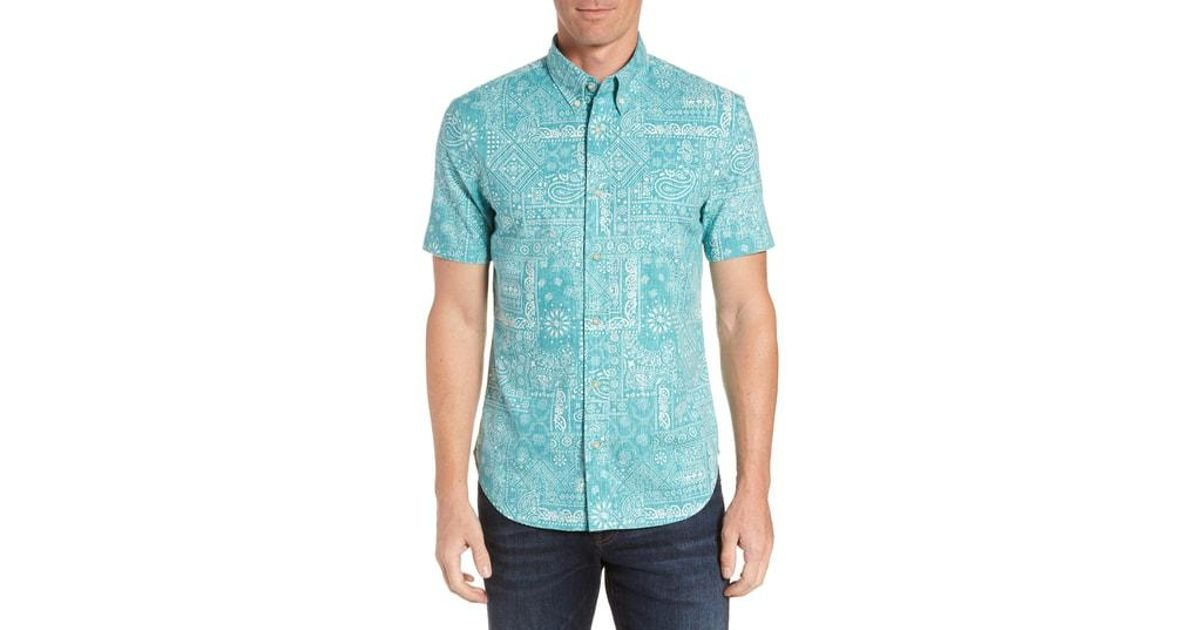 6f1ac61295b4 Lyst - Reyn Spooner Aloha Bandana Regular Fit Sport Shirt in Red for Men