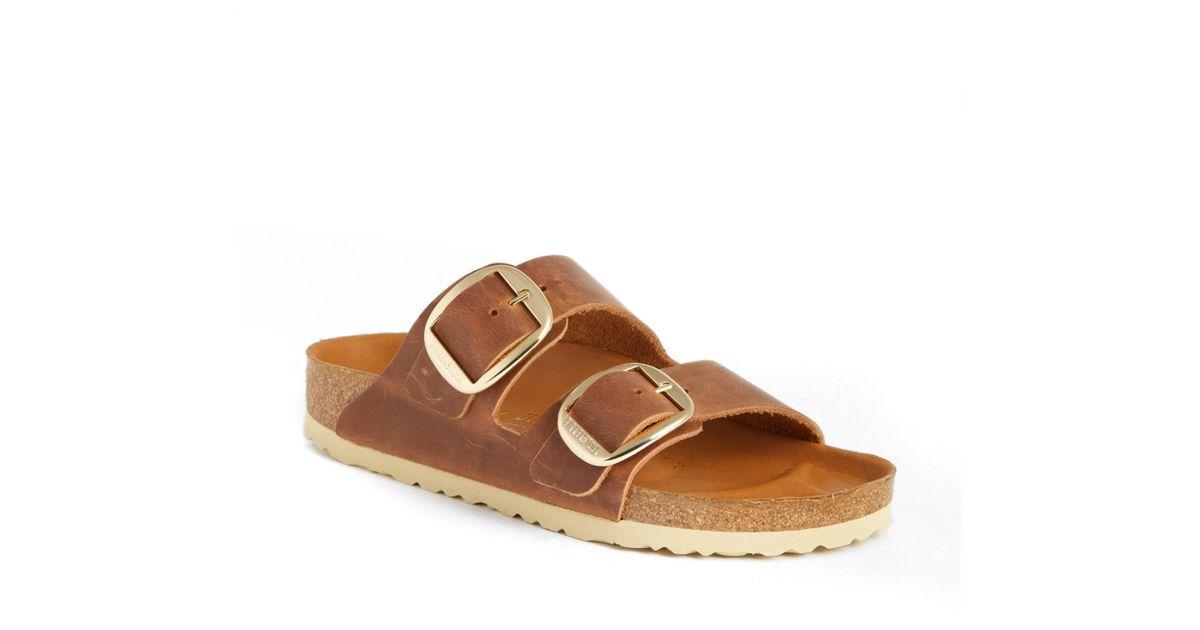 3bc872f0f81 Lyst - Birkenstock Arizona Hex Slide Sandal in Brown - Save 60%