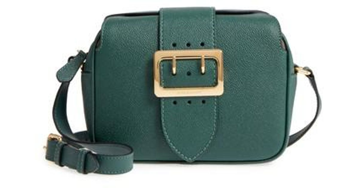 b75fdc61b4a3 Lyst - Burberry Small Buckle Leather Crossbody Bag in Green