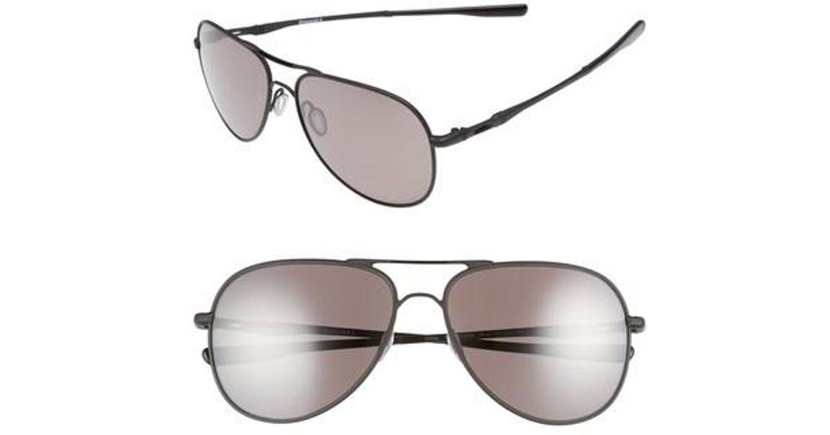 f170c460ae Lyst - Oakley Elmont 60mm Polarized Aviator Sunglasses in Black for Men