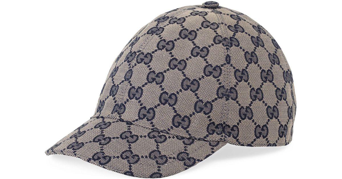 ed05d1df3b4 Lyst - Gucci Logo Baseball Cap - in Gray for Men