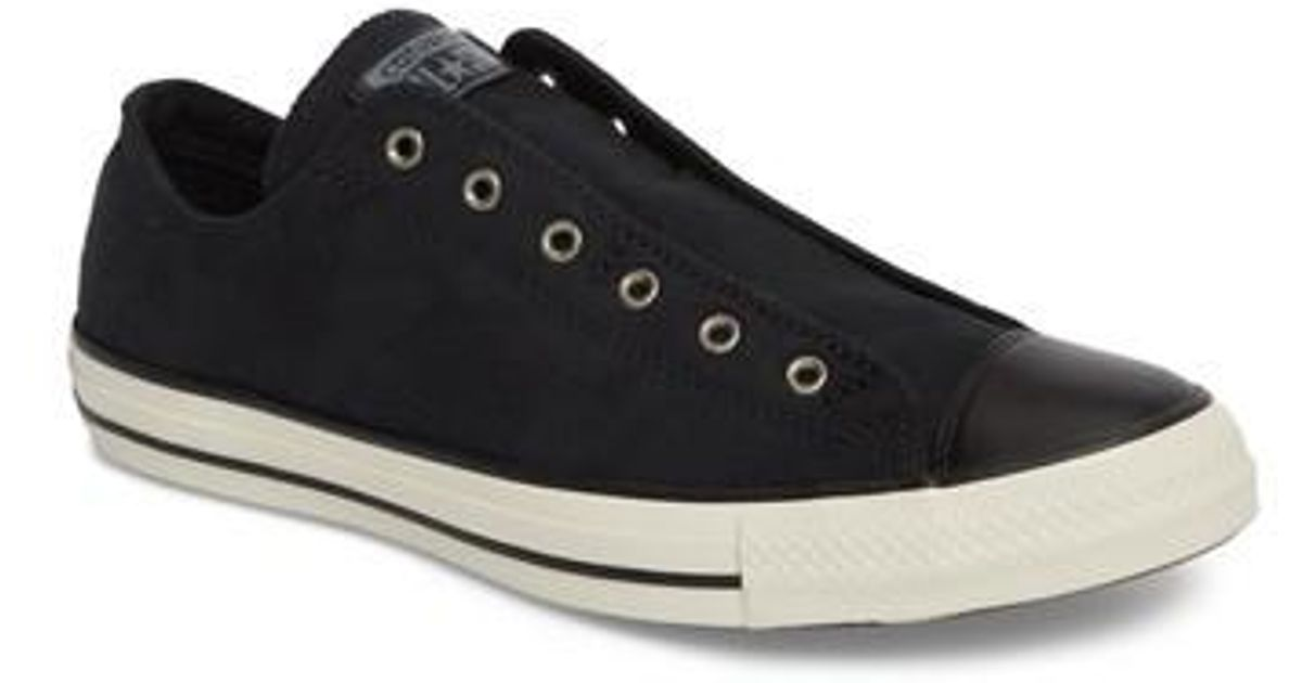 1736f25e99ae Converse Chuck Taylor(r) All Star(r) Laceless Low Top Sneaker (unisex) in  Black for Men - Lyst