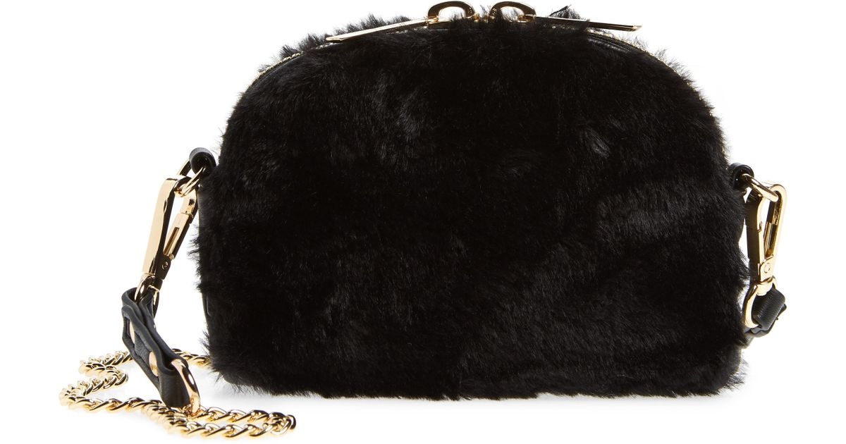 MALI AND LILI - Black Mali + Lali Lana Faux Fur   Vegan Leather Belt Bag -  Lyst 5c76cd7ac4025