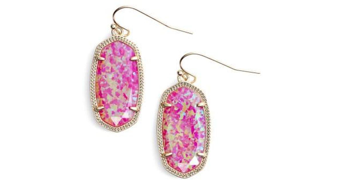 Kendra Scott Dani Earring Mop Blush Lite Pink S2p64