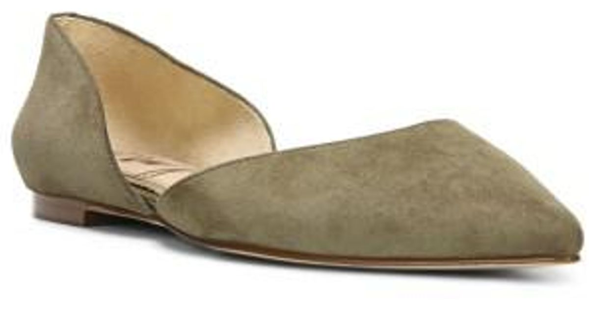 b620ab79cd91f Lyst - Sam Edelman Rodney Pointy Toe D orsay Flat in Green