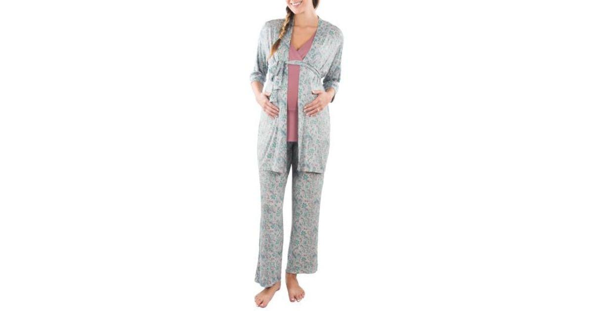 Lyst - Everly Grey Susan 5-piece Maternity nursing Pajama Set 7e9adaa43