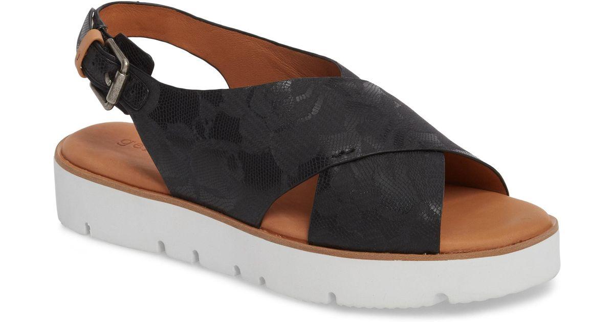 5034ff0bb989 Lyst - Gentle Souls Prisca Perforated Platform Walking Sandals in Black -  Save 72%