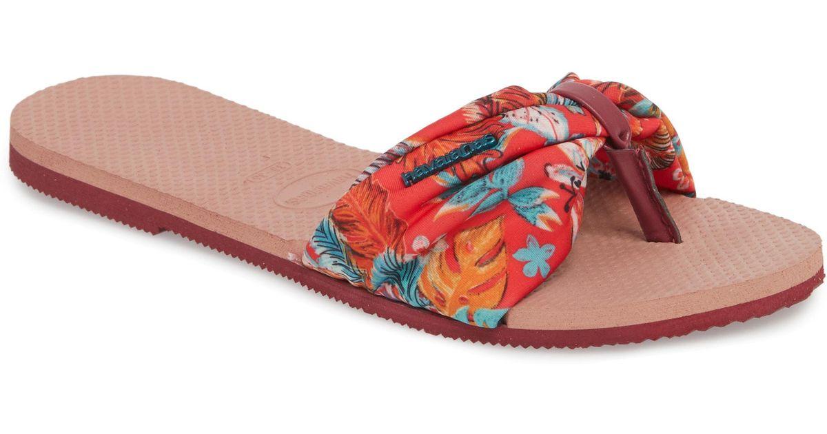 5ec0a021e440f Lyst - Havaianas You Saint Tropez Sandal in Pink