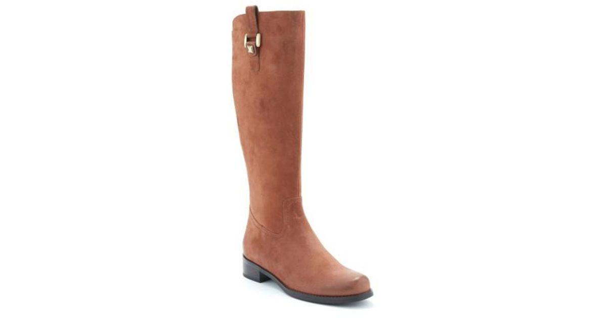 98e8201ded8 Blondo - Brown 'velvet' Waterproof Riding Boot - Lyst