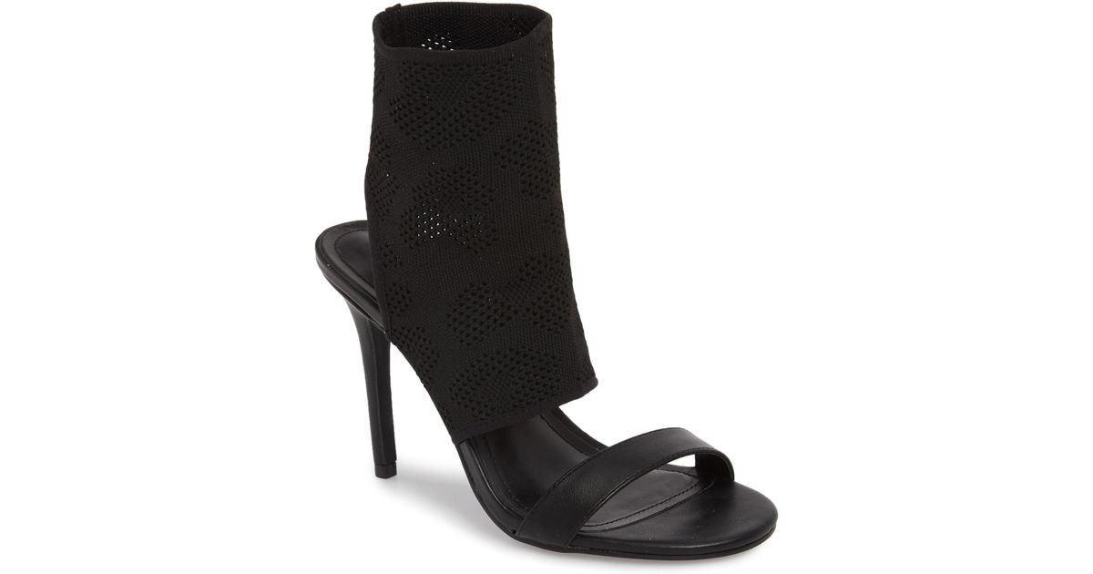63e537e409f Lyst - Charles David Remote Sock Cuff Sandal in Black